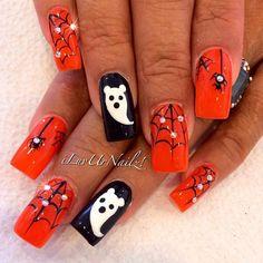 More Haloweenie Nails