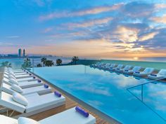 pool at the W Hotel Barcelona