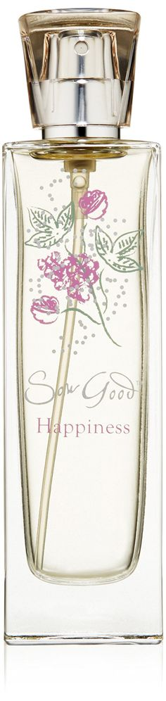 Sow Good Natural Eau De Parfum Spray, Happiness, 1.7 Fluid Ounce. Happiness is a sweet floral fragrance. Enhance the fragrance experience by layering with the Sow Good 3-in-1 natural shampoo, shower and bath gel and eau de parfum. Certified as compliant with the natural products association standard for personal care products. Vegan, biodegradable, not tested on animals.