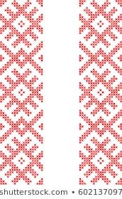 Vector de stock (libre de regalías) sobre Embroidered Crossstitch Ornament National Pattern606557735 Cross Stitch Embroidery, Cross Stitch Patterns, Royalty Free Images, Tricks, Create Yourself, Knitwear, Dots, Illustrations, Artists
