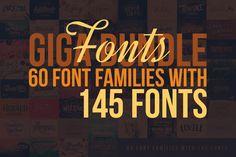 Fonts Giga Bundle – 60 Font Families