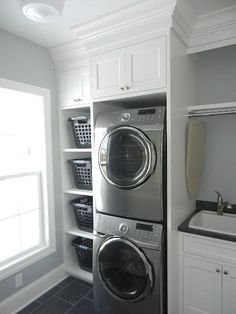 laundry room remodel on a budget Small Laundry Room Ideas are a lot of fun if you find the right ones and use them adequately. With the right approach and some nifty ideas you can take things to the next level. Mudroom Laundry Room, Laundry Room Layouts, Laundry Room Remodel, Farmhouse Laundry Room, Small Laundry Rooms, Laundry Room Organization, Laundry Room Design, Laundry In Bathroom, Laundry Room Ideas Stacked