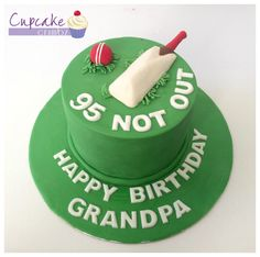 Cricket themed cake for a 95th birthday