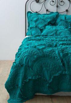 Bedding •~• dark aqua/teal/turquoise ruffles
