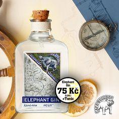 Elephant Strength Gin je založen na ginu Elephant London Dry, ale s 57 % alkoholu jde o jeho silnější a mohutnější verzi. Aromata a vůně jedinečné směsi bylin jsou v této edici zesíleny, zároveň si ale zachovává jemný a vyvážený charakter, pro který je oceňovaný gin Elephant London Dry. Čerstvá aromata afrického buchu, pomeranče a norské borovice jsou v ginu výraznější a spolu s mimořádnou viskozitou jsou důvodem, proč mezi jinými overproof giny Elephant Strength vyniká. London Dry, Gin And Tonic, Plymouth, Whisky, Flask, Barware, Elephant, Strength, Alcohol