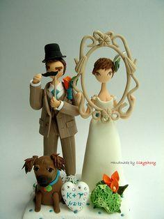 Wedding cake topper www.etsy.com/...