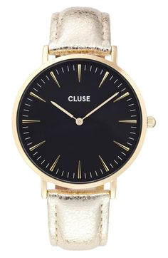 Dazzling, yet understated. This leather banded watch is a combination of classic, elegant, and fun.