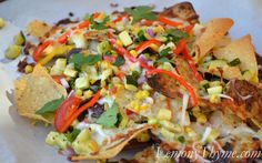 Fresh Veggie Nachos Gluten Free  and can make it dairy free just by leaving off the cheese