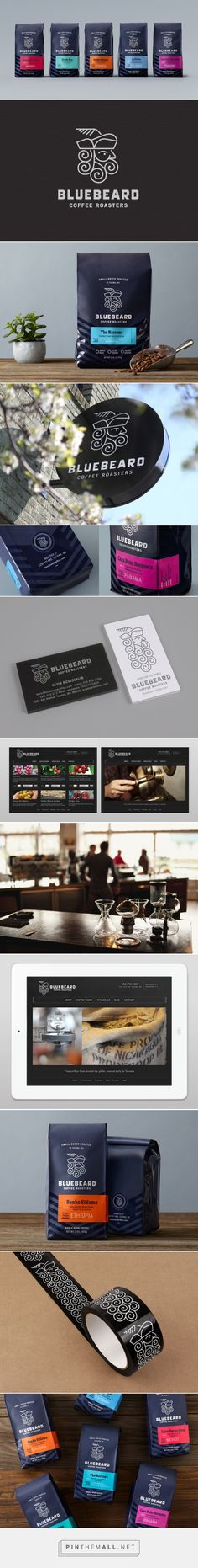 Bluebeard Coffee Roasters — The Dieline - Branding & Packaging Food Branding, Coffee Branding, Coffee Packaging, Brand Packaging, Design Packaging, Coffee Label, Chocolate Packaging, Bottle Packaging, Food Packaging