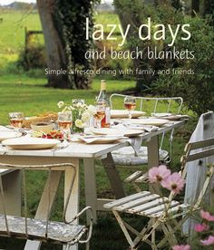 Lazy Days and Beach Blankets: Simple Alfresco Dining with Family and Friends (Cookery) Ginger Lemonade, Outdoor Dining, Outdoor Decor, Outdoor Fun, Outdoor Spaces, Cook Up A Storm, Outdoor Parties, Outdoor Events, Al Fresco Dining