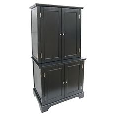 Home Styles Bedford Computer Cabinet with Hutch - Ebony at HSN.com. #hsn #HouseBeautiful