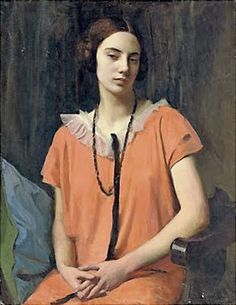 George Spencer Watson The Orange Dress 1926 It's About Time: The Rather Amazing Portraits of his Wife & Others by England's George Spencer Watson 1869-1934