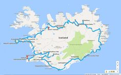 Iceland Ring Road Route