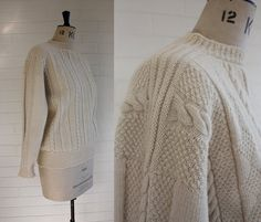 Vintage Traditional Hand Knitted Gansey Sweater by WaysideFlower, £65.00
