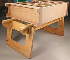 Work bench design idea: Only put wheels on 1 end like a dolly and add a handle on the other end for ease of movement around the shop