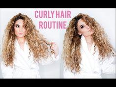 BIG CURLY HAIR - NO HEAT - YouTube Carrie curls using Bantu knots