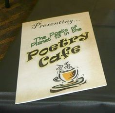 A poetry cafe--to help celebrate a poetry unit.
