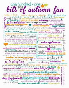 awesome FREE printable for fall. I hope to do most of the 101 things on this list! :D