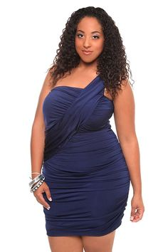 piniful.com plus size one shoulder dress (19) #plussizefashion
