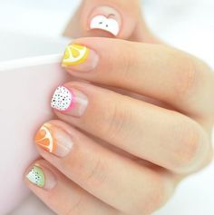 Fruity French Nails | Yummy Fruit Nail Art Designs On Instagram To Drool Over