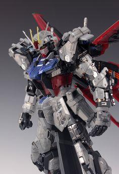 GUNDAM GUY: PG 1/60 Aile Strike Gundam 30th Anniversary Color Clear Ver. - Painted Build