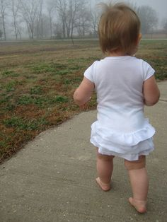 Infant Girl Clothes: Tutorial to Lengthen Your Onesie with a Ruffled Skirt - Handmade Baby Clothes