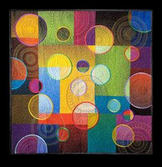 "Quilt by Libby Lehman, ""High Hopes"" — with Libby Lehman."