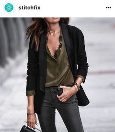 Rock a Power Blazer This Fall, Make Diane Keaton Proud - Herren- und Damenmode - Kleidung Mode Outfits, New Outfits, Fall Outfits, Casual Outfits, Fashion Outfits, Looks Chic, Looks Style, Style Me, Trendy Style