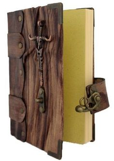 BROWN LEATHER JOURNAL DIARY - Sword Sketchbook - Pocket Book - Writing Drawing