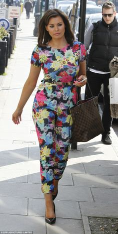 Jess Wright wowed in a floral jumpsuit.