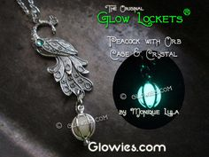 Peacock Glow Locket Pendant Silver