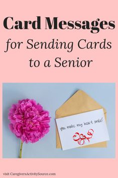 Ideas for card messages for sending cards to seniors and the elderly for Grandparents day or any day. Valentines Card Sayings, Valentine Verses, Valentines Day Messages, Valentines Day Activities, Sympathy Card Messages, Cute Messages, Kindness Projects, Crafts For Seniors, Messages