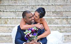 Miami wedding photographer | Couple's Portrait - @The Ritz-Carlton in Coconut Grove Florida #weddingflowers #weddingdress #bride #groom #weddingkiss