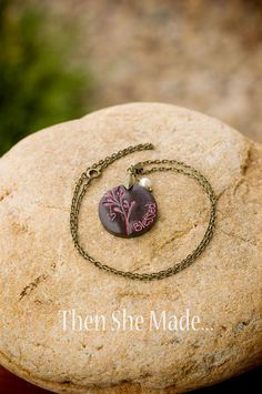 New Mom Blessed Pendant Necklace by Thenshemade on Etsy, $16.00