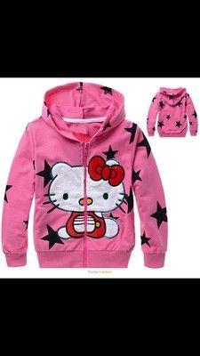 Cute hello kitty hoodie girls