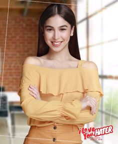 Julia plays the role of Zoey on Star Cinema's anniversary offering in cinemas July Filipina, 25th Anniversary, Asian Woman, Ruffle Blouse, Actresses, Plays, Beauty, Target, Tops