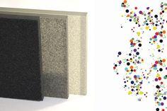 Pour des façades chatoyantes De petites particules de verre issues du recyclage sont déposées sur une plaque en verre float, le tout est ensuite recuit afin d'obtenir une fusion partielle de la matière (frittage). L'état de surface obtenu est légèrement texturé, brillant, il reflète et disperse subtilement la lumière, jouant également avec l'angle de vision. De nombreuses couleurs possibles, fonctionne très bien en rétro-éclairage, en intérieur