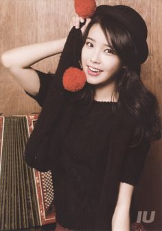 Fun with Fluffy Beanie Balls & Accordions - IU Korean Star, Korean Girl, Asian Girl, Lee Hyun, Cute Poses, Korea Fashion, Korean Actresses, Queen, Little Sisters