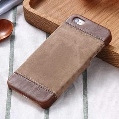 Sewing PU Leather Case For iPhone 5 / 5S / SE Hard Back Cover Luxury Coque For Apple Brand i Phone iPhone5 S Fundas No Smell