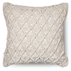 Threshold Macrame Throw Pillow ($24) ❤ liked on Polyvore featuring home, home decor and throw pillows