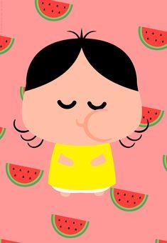 Quadrinho Turma da Mônica toy / baby Paper Fruit, Toy 2, Girl Wallpaper, Baby Toys, Alice, Pikachu, Hello Kitty, Kitten, Doodles