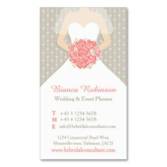 20 best wedding planner business cards images on pinterest wedding coral grey white wedding planner business card colourmoves