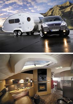 Luxurious trailer.