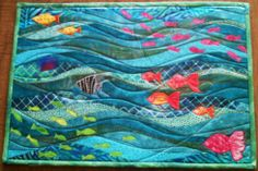 quilted placemat patterns for free | Ocean Waves Placemat by Benyapa Steinmetz at The Quilt Show