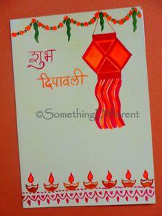 Diwali Greeting Card Diwali Cards, Diwali Greeting Cards, Diwali Diya, Diwali Greetings, Greeting Cards Handmade, Diwali Decorations, Festival Decorations, Diwali For Kids, Diwali Festival