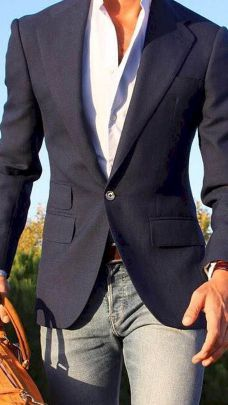 The best men's blue blazer outfitl lookbook inspiration spring and summer 2017 no 39