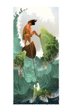 """By Brittney Lee    """"Maui is a demi-god who is responsible for fishing the Hawaiian islands out of the sea. That makes him totally awesome."""""""