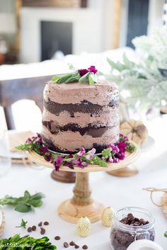 Chocolate Naked Cake - Autumn