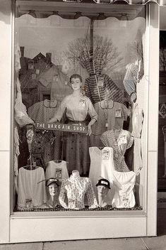 1950s newberry's display window.