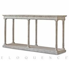 Eloquence® Gustav Console Table in Oak Driftwood | Kathy Kuo Home